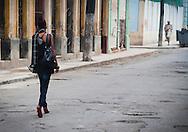 Well-dressed woman in Havana, Cuba