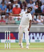 Ravi Ashwin bowls during the first Test Match between England and India at Edgbaston, Birmingham. Photo: Graham Morris  / www.photosport.nz