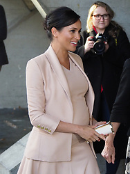 The Duchess of Sussex is seen visiting the National Theatre in London. Earlier this month The Duchess was announced as Patron of the National Theatre, one of two Patronages passed on by Her Majesty The Queen.<br /><br />30 January 2019.<br /><br />Please byline: Vantagenews.com