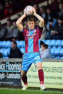 Scunthorpe United defender Lewis Butroid as he throws the ball back inti play during the The FA Cup 1st round match between Scunthorpe United and Burton Albion at Glanford Park, Scunthorpe, England on 10 November 2018.