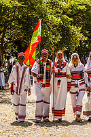 Irreecha festival at Lake Hora Harsadi, in Bishoftu, outside Addas Ababa, Ethiopia. Over 4 million Oromo from across Ethiopia were said to come to the festival. The Oromo population in Ethiopia is approximately 35 million (1/3 the population of the country). The Oromos celebrate Irreecha to thank Waaqa (God) for the blessings and mercies they received throughout the previous year and to celebrate the end of the rainy season and welcome the harvest season.