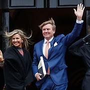 NLD/Amsterdam/20190115 - Koninklijke nieuwjaarsontvangst Nederlandse genodigden, Willem Alexander en partner Maxima