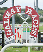 28/07/2014 The finishing post of 2014 at the Galway Summer Racing Festival at Ballybrit in Galway City. Photo:Andrew Downes