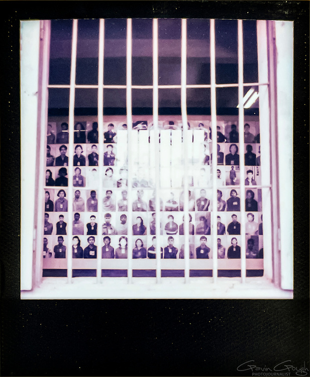 Archive photographs of prisoners, Tuol Sleng S-21 Genocide Museum, Cambodia