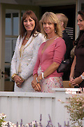 Angelica Huston and Sabrina Guinness,  . Cartier International Day at Guards Polo Club, Windsor Great Park. July 24, 2005. ONE TIME USE ONLY - DO NOT ARCHIVE  © Copyright Photograph by Dafydd Jones 66 Stockwell Park Rd. London SW9 0DA Tel 020 7733 0108 www.dafjones.com