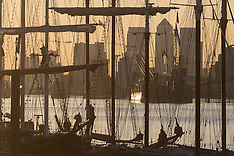 2016-09-14 Sunset on the Thames as Tall Ships gather for Sail Greenwich Festival