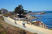 Bike Path along Monterey Bay, California, USA