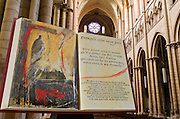 The story of Saint Jean in Saint Jean Cathedral, old town Vieux Lyon, France (UNESCO World Heritage Site)