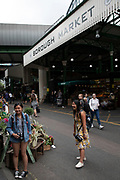 Sign for Borough Market in London, England, United Kingdom. Borough Market is a retail food market and farmers market in Southwark. It is one of the largest and oldest food markets in London, with a market on the site dating back to at least the 12th century. A farmers market is a physical retail marketplace intended to sell foods directly by farmers to consumers. Farmers markets may be indoors or outdoors and typically consist of booths, tables or stands where farmers sell fruits, vegetables, meats, cheeses, and sometimes prepared foods and beverages.