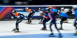 Itzhak de Laat of Netherlands in action on 5000 meter relay during ISU World Short Track speed skating Championships on March 06, 2021 in Dordrecht
