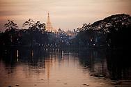 Shwedagon Pagoda Temple Yangon Myanmar Burma