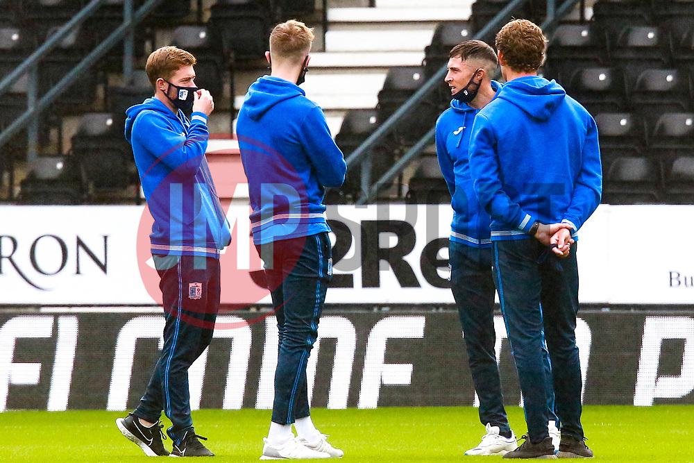 Barrow players inspect the pitch at Pride Park - Mandatory by-line: Ryan Crockett/JMP - 05/09/2020 - FOOTBALL - Pride Park Stadium - Derby, England - Derby County v Barrow - Carabao Cup