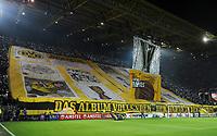 Fotball<br /> Tyskland<br /> 18.02.2016<br /> Foto: Witters/Digitalsport<br /> NORWAY ONLY<br /> <br /> Fans Dortmund, Choreographie Suedtribuene<br /> Dortmund, 18.02.2016, Fussball, Europa League, Zwischenrunde Hinspiel, Borussia Dortmund - FC Porto