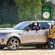 Oliver Townend (GBR) and Ballaghmor with Joe Eberhardt, Land Rover North America CEO at Land Rover Kentucky Three-Day Event presented by MARS Equestrian held in Lexington, KY.