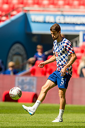 August 5, 2018 - Jorginho of Chelsea during the 2018 FA Community Shield match between Chelsea and Manchester City at Wembley Stadium, London, England on 5 August 2018. Photo by Salvio Calabrese. (Credit Image: © AFP7 via ZUMA Wire)
