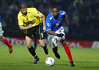 30/11/2004 - Watford v Portsmouth - Carling Cup - Quarter Final<br />Watford's Neil Cox chases Portsmouth's Ricardo Fuller<br />Jed Leicester/Back Page Images