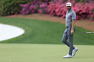 Dustin Johnson (USA) on the 13th green during the 1st round at the The Masters , Augusta National, Augusta, Georgia, USA. 11/04/2019.<br /> Picture Fran Caffrey / Golffile.ie<br /> <br /> All photo usage must carry mandatory copyright credit (© Golffile | Fran Caffrey)