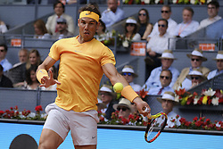 May 9, 2018 - Madrid, Spain - Rafael Nadal against Gael Monfils during day five of the Mutua Madrid Open tennis tournament at the Caja Magica on May 9, 2018 in Madrid, Spain. (Credit Image: © Oscar Gonzalez/NurPhoto via ZUMA Press)