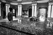 """The tomb of Venezuela's President, Hugo Chávez, in the 4th of February Military Headquartes, in Caracas, 22nd March 2013. The 4F Military headquarters was transformed into the Museum of the Revolutin after Chávez remains were translated from the Military Academy. Chávez ruled Venezuela for 14 years, passed away on the 5th March 2013.  He revolutionized not only his nation but also other countries in Latin America, with his political views and what he called the """"21st Century Socialism"""", supported by the petrodollars from Venezuela's massive oil-reserves."""
