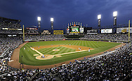 CHICAGO - JUNE 20:  A general view of U.S. Cellular Field as 36,005 fans watch the game between the Chicago White Sox and Chicago Cubs on June 20, 2011 at U.S. Cellular Field in Chicago, Illinois.  The Cubs defeated the White Sox 6-3.  (Photo by Ron Vesely/MLB Photos via Getty Images)