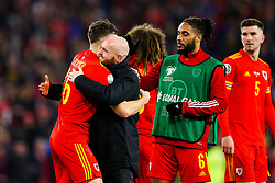 Tom Lockyer of Wales and Ashley Williams of Wales after Wales win 2-0 to secure their qualification for Euro 2020 - Rogan/JMP - 19/11/2019 - FOOTBALL - Cardiff City Stadium - Cardiff, Wales - Wales v Hungary - UEFA Euro 2020 Qualifiers.