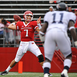Sep 12, 2009; Piscataway, NJ, USA; Rutgers quarterback Tom Savage (7) makes a pass during the first half of Rutgers' 45-7 victory over Howard in NCAA College Football at Rutgers Stadium.