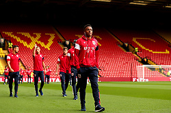 Niclas Eliasson of Bristol City take in the surroundings of Vicarage Road ahead of their Carabao Cup match against Watford - Mandatory by-line: Robbie Stephenson/JMP - 22/08/2017 - FOOTBALL - Vicarage Road - Watford, England - Watford v Bristol City - Carabao Cup