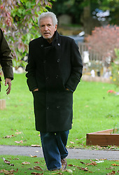 © Licensed to London News Pictures. 07/10/2014London, UK. George Leighton arriving for the funeral of singer Lynsey de Paul in Hendon, North London Photo credit : Simon Jacobs/LNP