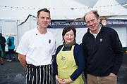 25/09/2016 Ian Mannix BIM,  Simon and Kate Kennedy, Killary Fjord Shellfish at the Galway International Oyster Festival Photo:Andrew Downes, XPOSURE.