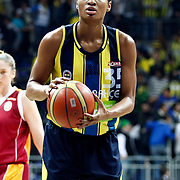 Fenerbahce's Angel MCoughtry during their Turkish Basketball woman league derby match Fenerbahce between Galatasaray at Ulker Sports Arena in Istanbul, Turkey, wednesday, December 26, 2012. Photo by Aykut AKICI/TURKPIX