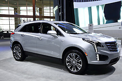 09 February 2017: Cadillac XT5 AWD 4 door SUV<br /> <br /> First staged in 1901, the Chicago Auto Show is the largest auto show in North America and has been held more times than any other auto exposition on the continent.  It has been  presented by the Chicago Automobile Trade Association (CATA) since 1935.  It is held at McCormick Place, Chicago Illinois<br /> #CAS17