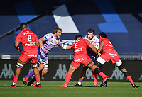 Rugby Union - 2019 / 2020 Heineken Cup - Semi-final - Exeter Chiefs vs Toulouse<br /> <br /> Exeter Chiefs' Luke Cowan-Dickie is tackled by Toulouse's Rory Arnold and Julien Marchand, at Sandy Park.<br /> <br /> COLORSPORT/ASHLEY WESTERN