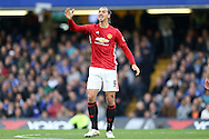 Zlatan Ibrahimovic of Manchester United shows his frustration. Premier league match, Chelsea v Manchester Utd at Stamford Bridge in London on Sunday 23rd October 2016.<br /> pic by John Patrick Fletcher, Andrew Orchard sports photography.