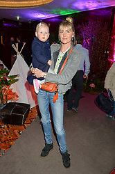 LADY EMILY HORNER and her daughter AVIA at Never Land Children's Party at the Bulgari Hotel, 171 Knightsbridge, London on 26th April 2016.