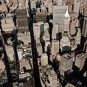 Aerial view of Lower Manhattan, New York CIty.