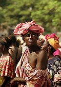 Togo - Lome woman in head dress