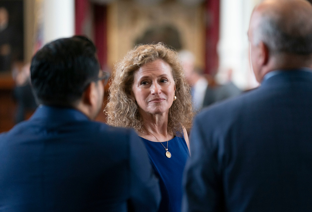 State Rep. Donna Howard, D-Austin, listens to colleagues on the first day of the special session on July 8, 2021.