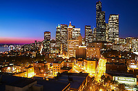 Downtown Seattle Blue Hour
