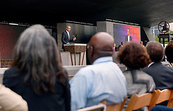 U.S President Barack Obama speaks at the opening ceremony of the Smithsonian National Museum of African American History and Culture on September 24, 2016 in Washington, DC, USA. The museum is opening thirteen years after Congress and President George W. Bush authorized its construction. Photo by Olivier Douliery/Pool/ABACAPRESS.COM