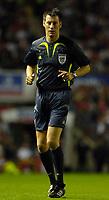 Photo: Daniel Hambury.<br />England v Greece. International Friendly. 16/08/2006.<br />Referee Wolfgang Stark.