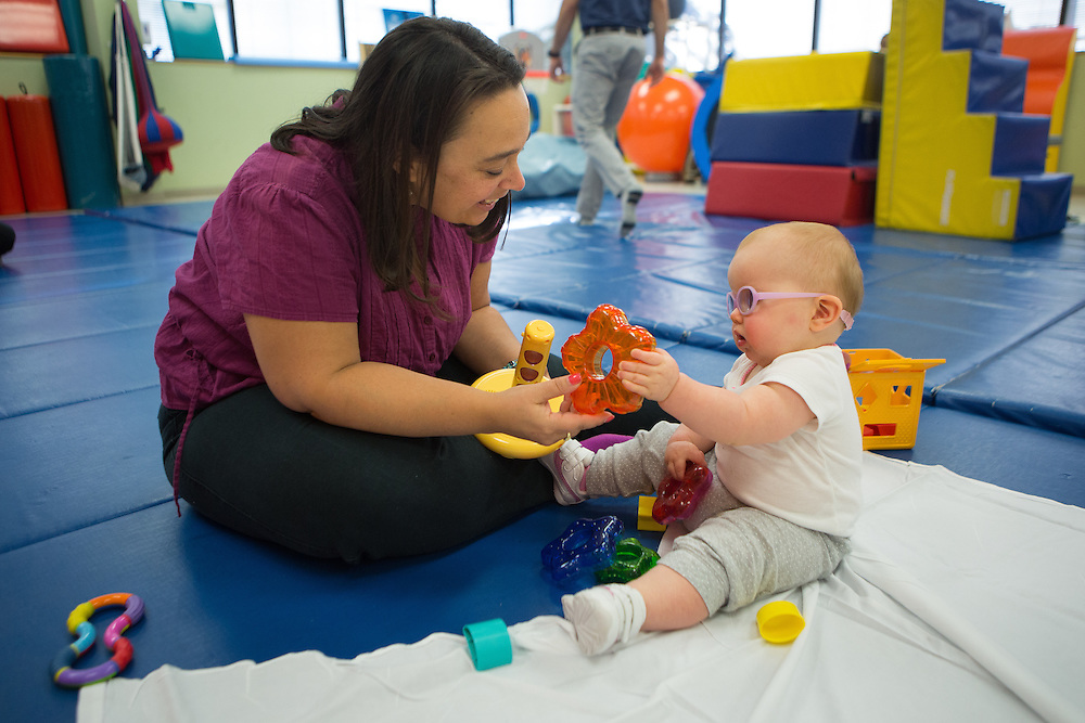 Patients and therapists at Children's Specialized Hospital's Toms River facility. <br /> 9/14/15 Photo by John O'Boyle