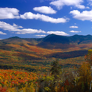 Waterville Valley in full fall color, White Mountain National Forest