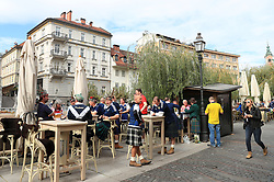 Scotland fans settle in Ljubljana during the 2018 FIFA World Cup Qualifying Group F match at Stadion Stozice, Ljubljana.