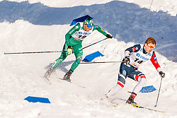 March 16, 2019 - Falun, SWEDEN - 190316  Francesco De Fabiani of Italy in the Women's cross-country skiing sprint  semi final during the FIS Cross-Country World Cup on march 16, 2019 in Falun  (Credit Image: © Daniel Eriksson/Bildbyran via ZUMA Press)