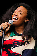 Sza performs at the 2014 Bumbershoot festival in Seattle, WA