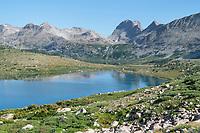 Lee lake and Middle Fork Basin. Bridger Wilderness, Wind River Range, Wyoming