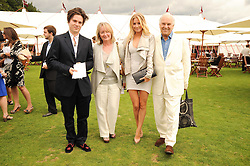 Left to right, MAX MONTGOMERY, MARTINE MONTGOMERY, MARISSA MONTGOMERY and DAVID MONTGOMERY at the Cartier International Polo at Guards Polo Club, Windsor Great Park, Berkshire on 25th July 2010.