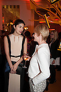 CAROLINE ISSA; JANE SHEPHERDSON, The Veuve Clicquot Business Woman Of The Year Award, celebrating women's excellence in business and commitment to sustainability. Claridge's, Brook Street, London, 22 April 2013