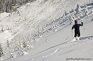 Doug Savage skiing Snow Bowl at Mount Tahoma Trails - Cascade Mountains, WA