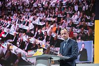 07 DEC 2018, HAMBURG/GERMANY:<br /> Friedrich Merz, CDU, Rechtsanwalt und Kandidat fuer das Amt des Parteivorsitzenden, haelt seine Bewerbungsrede , CDU Bundesparteitag, Messe Hamburg<br /> IMAGE: 20181207-01-137<br /> KEYWORDS: party congress